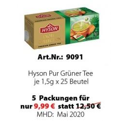 Art. 9091 5x Hyson Pur Grüner Tee je 1,5 g x 25