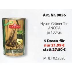 """Art. 9056 5x Hyson Grüner Tee """"Anoda"""" je 30 x 1,5g"""