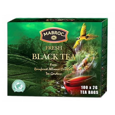 """Art. 4054 Mabroc Schwarzer Tee """"Regenwald"""" 2g x 100"""