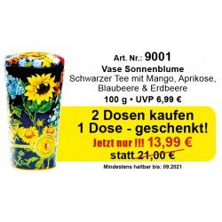 Art. 9001 Angebot Chelton 3 x Vase Sonnenblumen je 100 Gr.