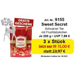 """Art. 9155 3x Hyson Schwarzer Tee """"Sweet Secret"""" je 200g"""