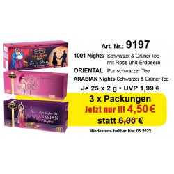 Art.Nr. 9197 3 x Orient,Arabian,1001 Nights je 2gr. x 25 TB