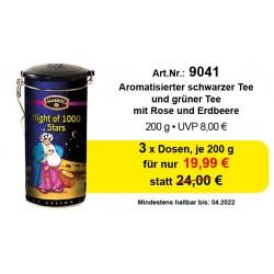 "Art. 9041 3x Mabroc Schwarzer & Grüner Tee ""Night of 1000 Stars"" je 200g"